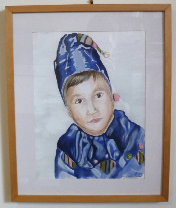 Boy in Blue Costume
